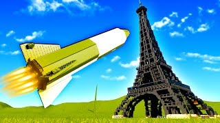 Germans Develop Secret Rocket Technology and Destroy the Eiffel Tower in Brick Rigs!