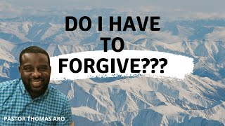 Forgiveness and Reconciliation | Pastor Thomas Aro
