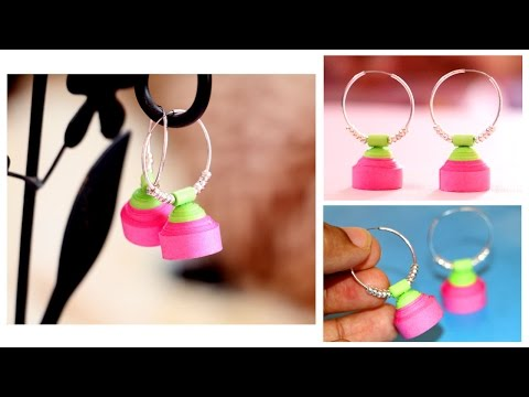 Quilling Earrings for Beginners | Quilling Earrings Jhumka Making | Quilling Paper Earrings