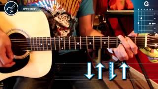 """Cómo tocar """"No Te Apartes de Mí"""" de Vicentico en Guitarra (HD) Tutorial Acordes - Christianvib"""