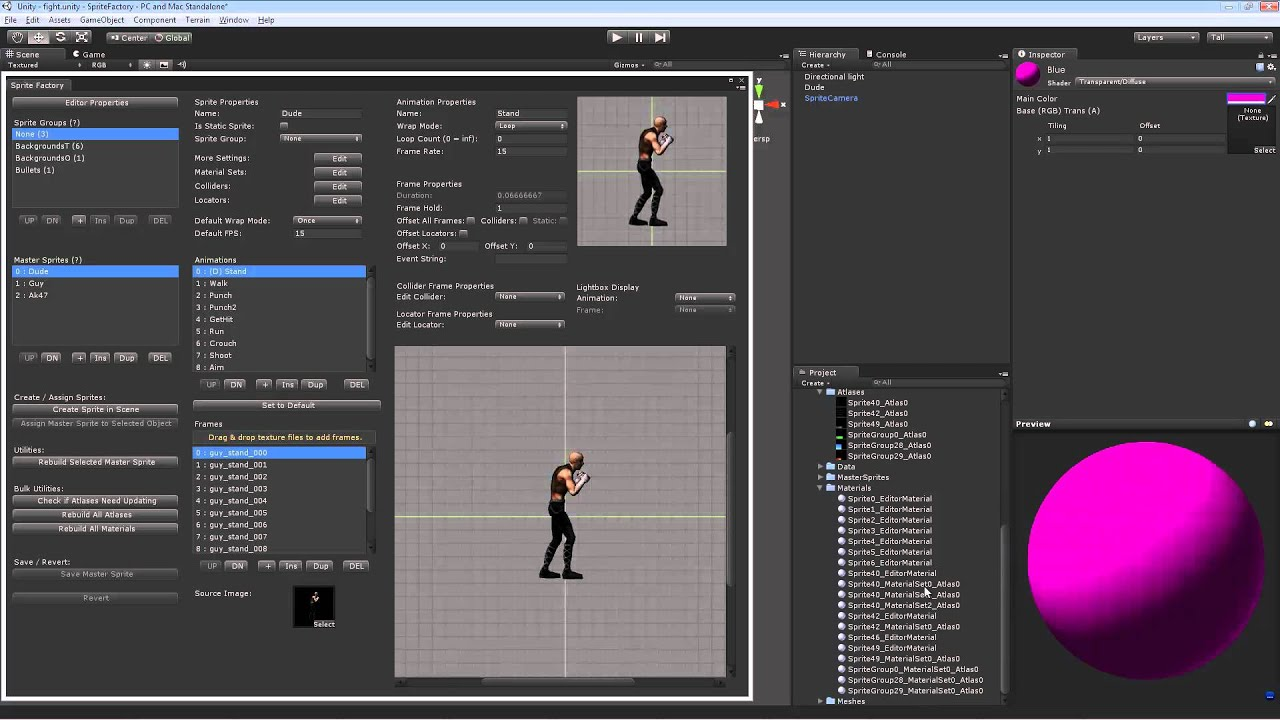 Sprite Factory - Sprite Animation System for Unity | Guavaman