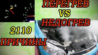 Машина не нагревается  или перегревается(проблемы с термостатом) ваз 2110-11-12