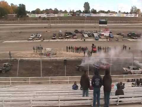Black Hills Speedway Demolition derby consi round