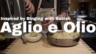 Making Pasta Aglio e Olio from Binging with Babish