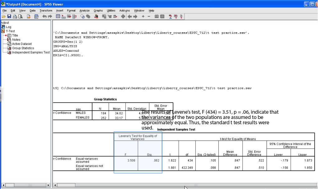 SPSS Tutorial: Independent t test