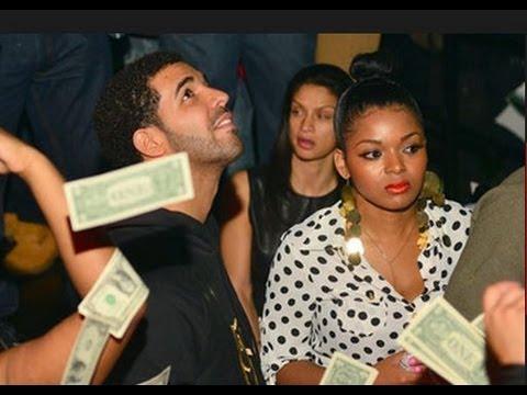 Drake throwing money