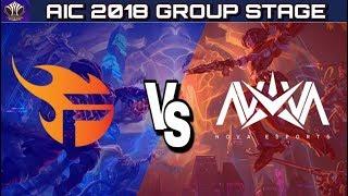 AIC 2018 : NOVA EUROPE vs TEAM FLASH Group Stage   Arena of Valor - Pich Sunumu ile