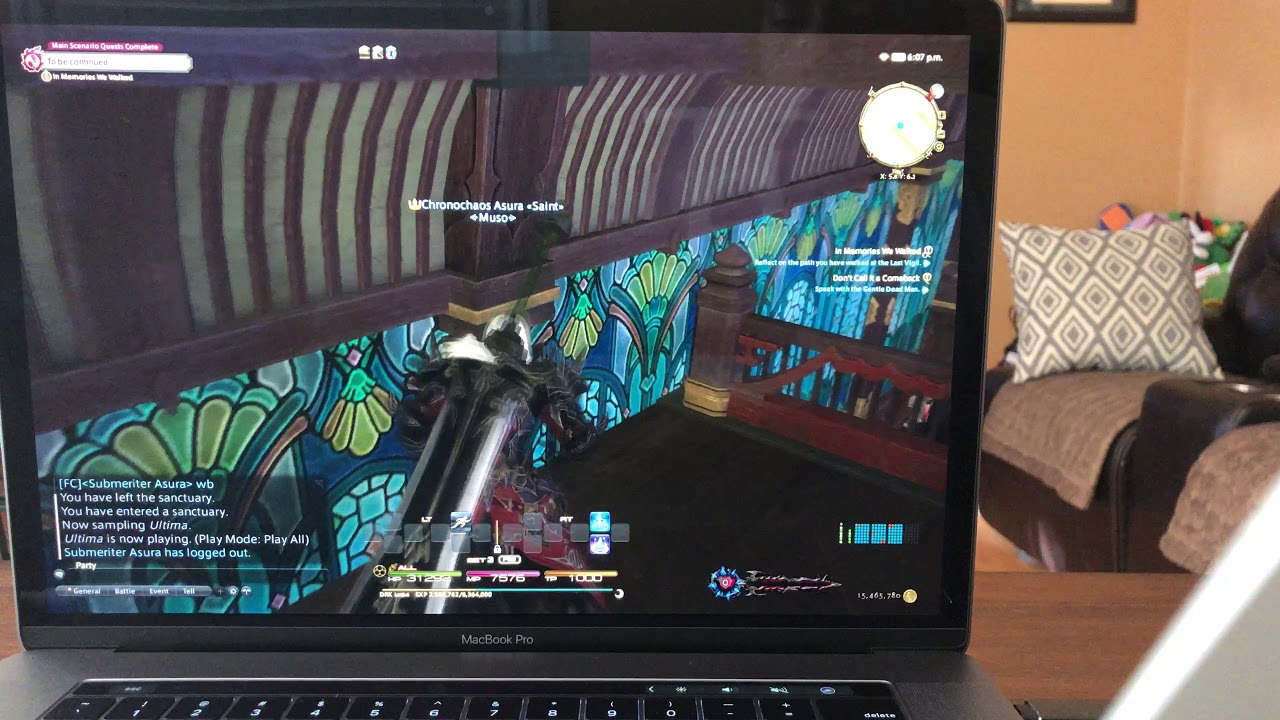 2018 MacBook Pro With Max Specs Playing Final Fantasy XIV