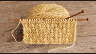Узор «Циновка» спицами 🤗 «Rolling Mat» knitting pattern