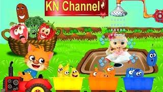 BÚP BÊ KN Channel DẠY BÉ MÀU SẮC RAU QUẢ