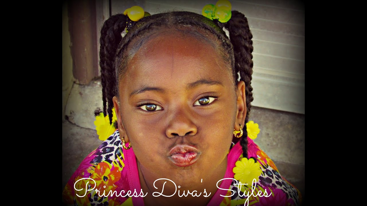 Princess Diva Little Girls Classic Ponytail Style Youtube