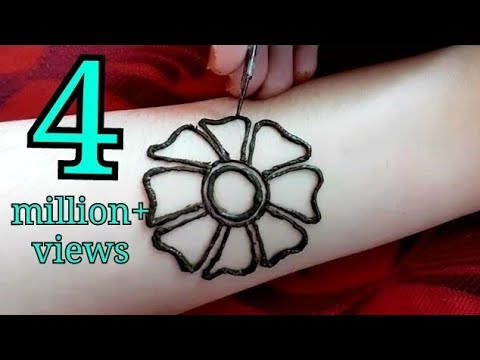 Latest Floral Arabic Mehndi Design For Front Hands Mehndi