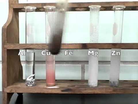 Reactivity Of Metals Lab Video