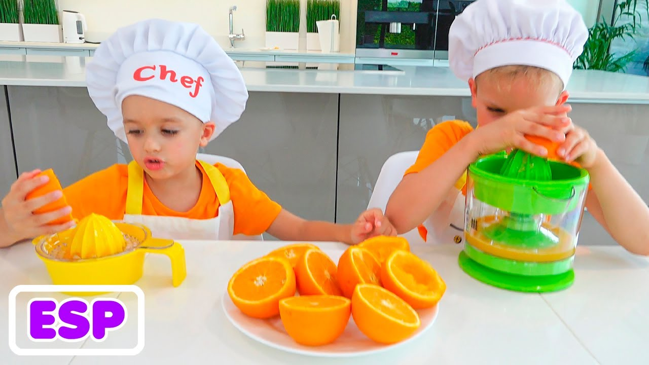 Vlad y Nikita preparan el desayuno para mamá