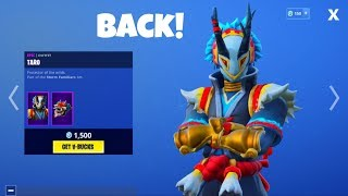 TARO Dragon Skin BACK in the Fortnite item shop