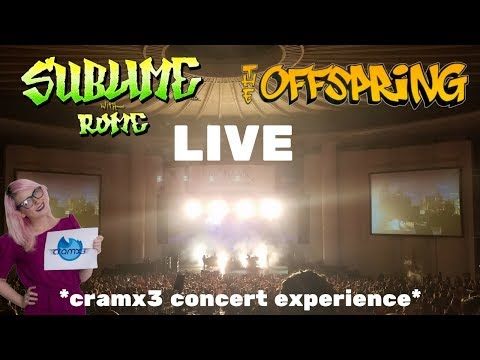 Sublime With Rome & The Offspring - LIVE - PNC Bank Arts Center Holmdel *cramx3 concert experience*