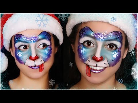 SUPER EASY One Stroke Blue Puppy / Dog Face Paint Tutorial