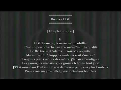 Pgp Booba Lyrics