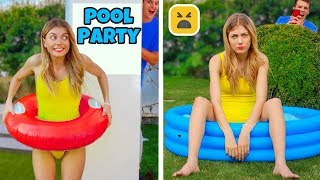 POOL PARTY PRANK! Best Summer DIY Pranks Ideas on Friends