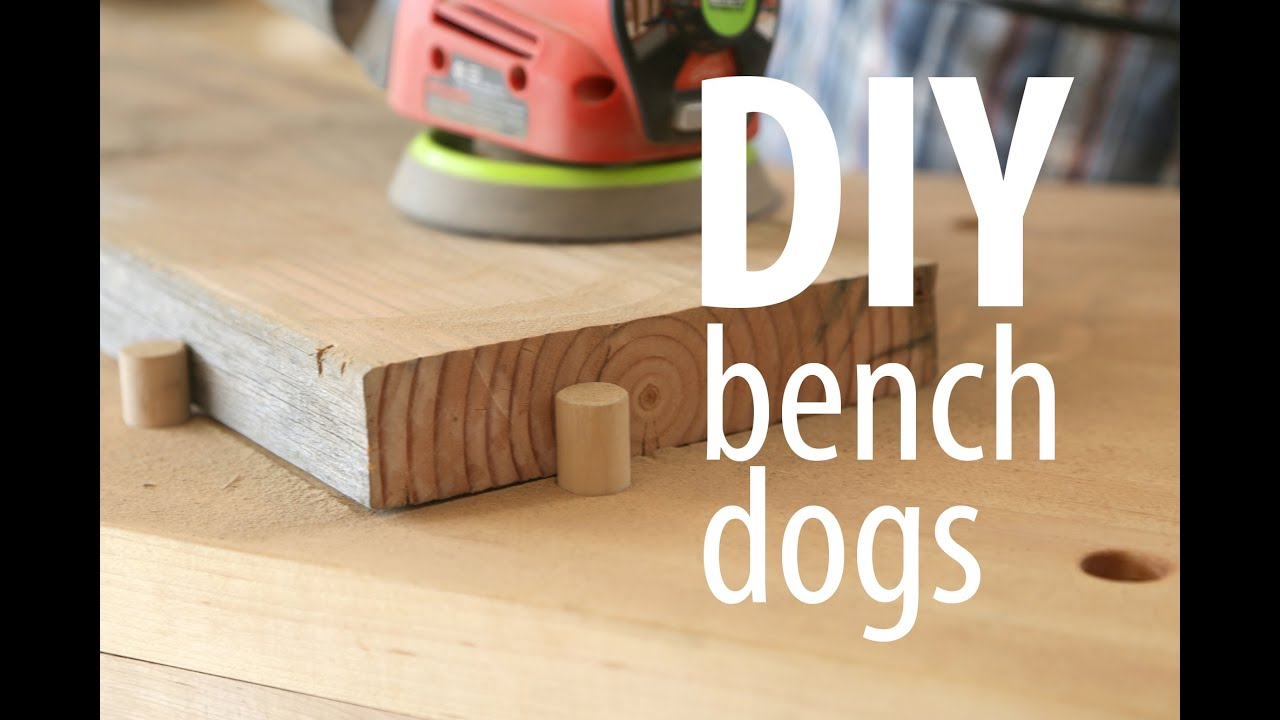 DIY bench dogs - YouTube