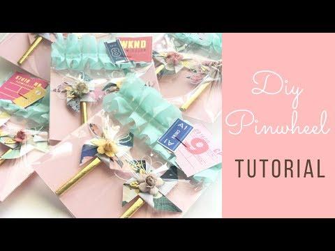Maggie holmes embellishments- diy pinwheel tutorial