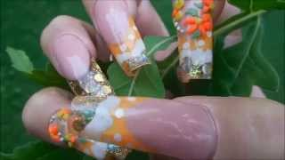 Nails in MOTION ! * NEW SET * Life with ORANGE !