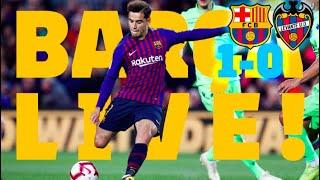 видео: BARCA 1-0 LEVANTE | BARCA LIVE | LaLiga Champions!!! Warm up & Match Center & Camp Nou celebrations