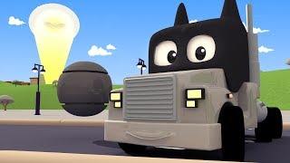 Tom the Tow Truck's Paint Shop - April fool : Batman returns  - Car City ! Trucks Cartoon for kids