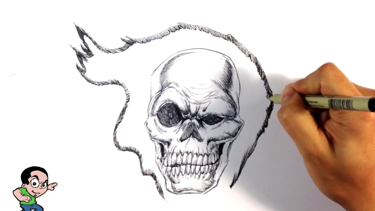 awesome ghost rider speed drawing easy drawings youtube