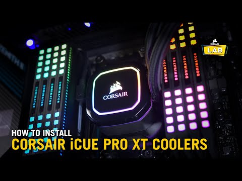 How To Install CORSAIR iCUE PRO XT CPU Liquid Coolers (LGA115X, LGA1200, LGA20XX, AM4, sTR4, sTRX4)
