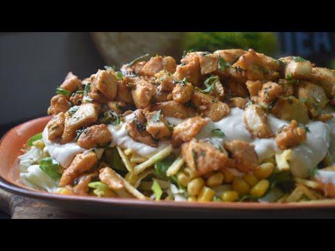 وجبة عشاء عالسريع اكلة خفيفة وسهلة   سلطة اعواد البطاطا بالدجاج   قناة المورزليرا (: