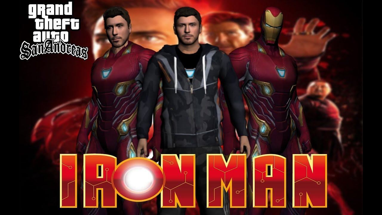 Gta Sa Tony Stark/Ironman Skin Pack From Infinity War