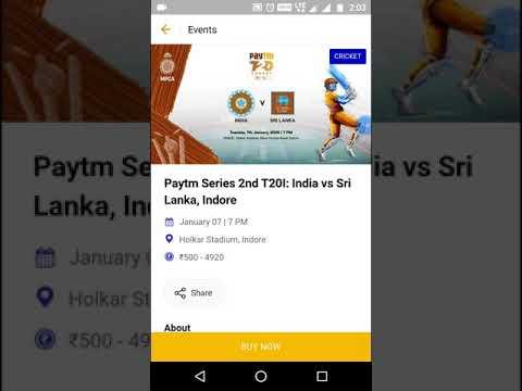 India Vs Sri Lanka Cricket Match Tickets Booking
