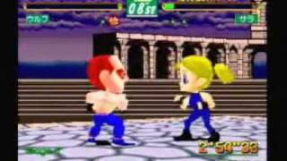 Virtua Fighter Kids - Wolf Hawkfield playthrough