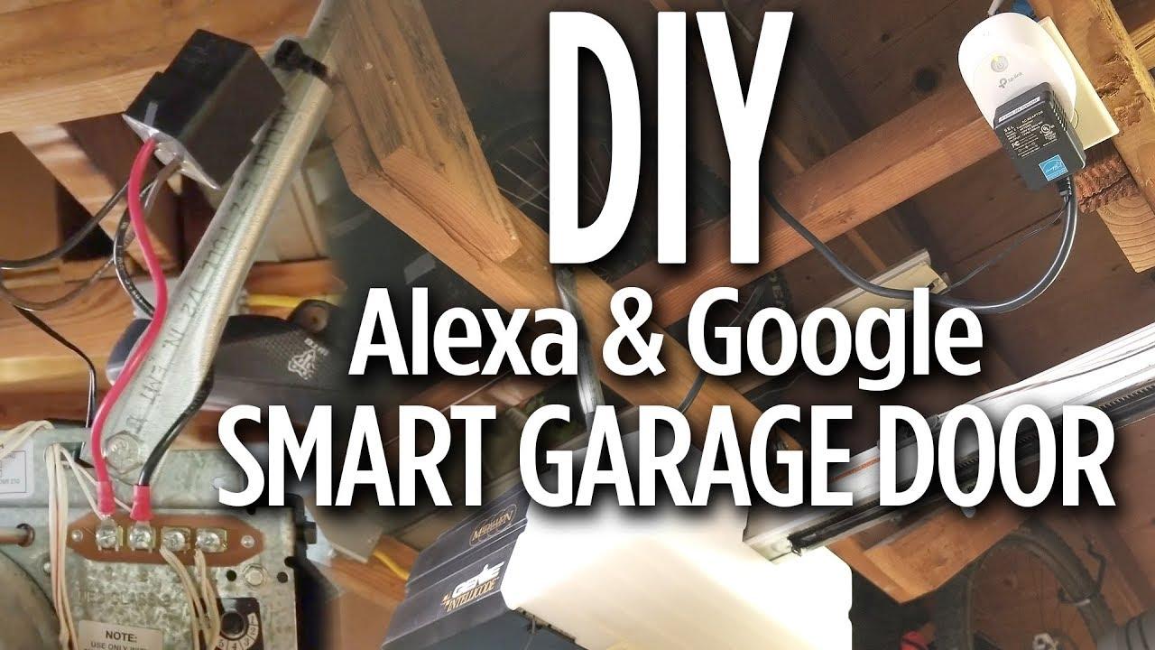 Diy Smart Garage Door Opener With Alexa Google Home Plug