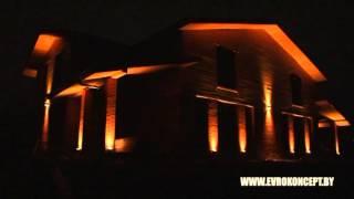 видео Фасадное освещение зданий: виды подсветки фасада (описание и фото), подбор светильников и проектирование