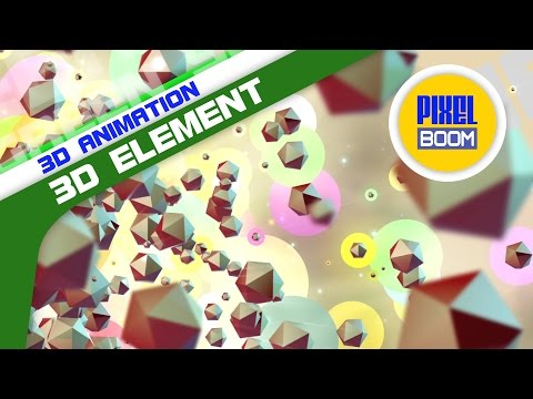Colorful Element 3D Particles Animated Background 4K - PixelBoom
