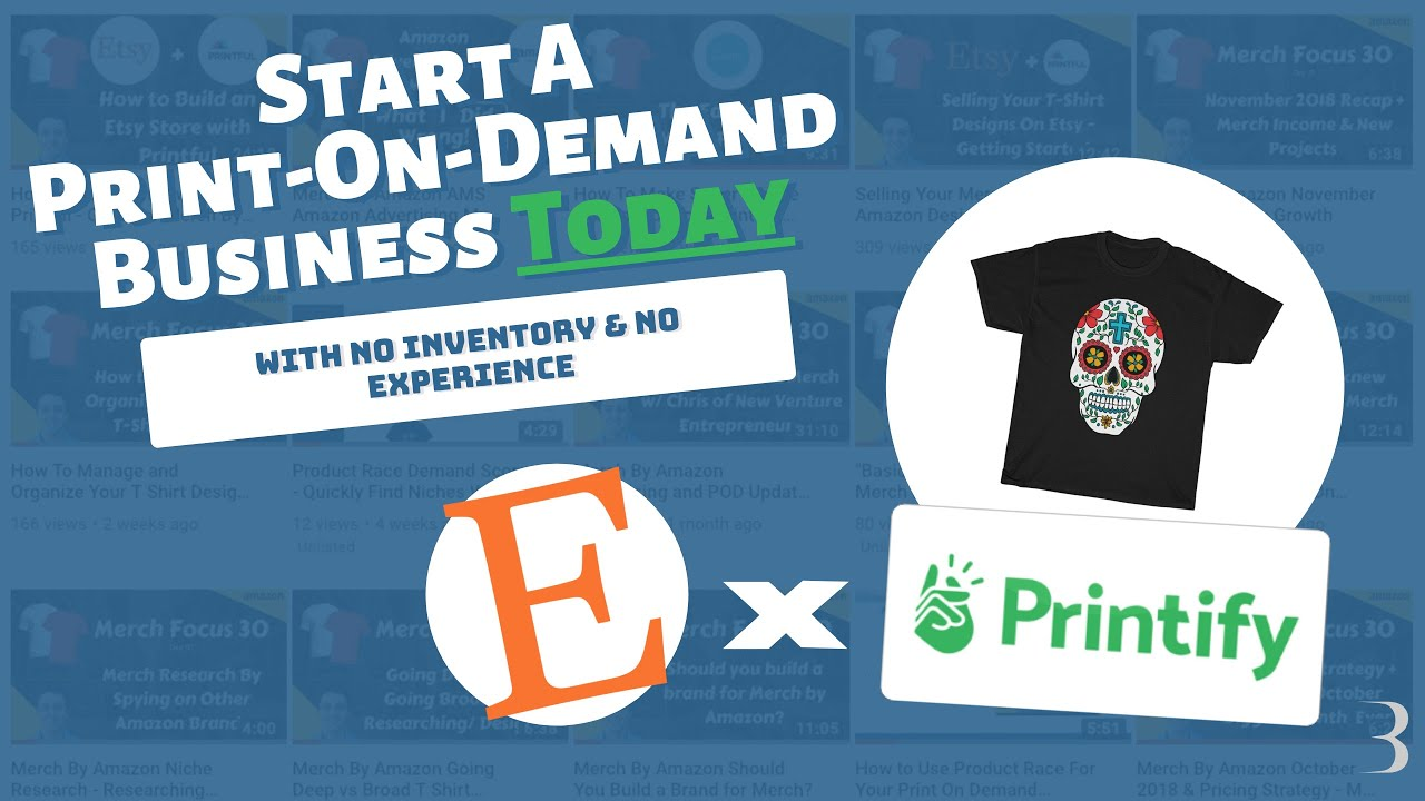 Printify and Etsy: Start a Print On Demand T Shirt Business Walkthrough and Product Review
