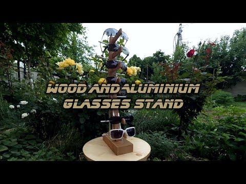 DiY Wood and Aluminium glasses stand