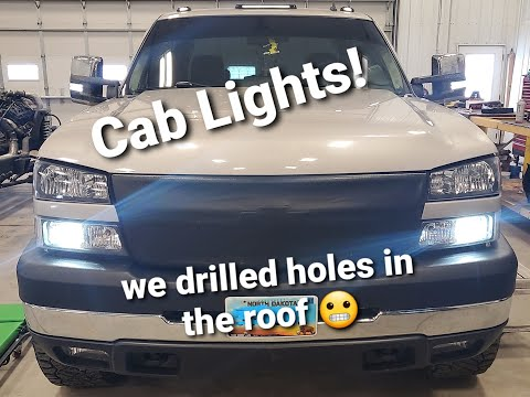 How to Install Cab lights on a 99-07 chevy/gmc pickup