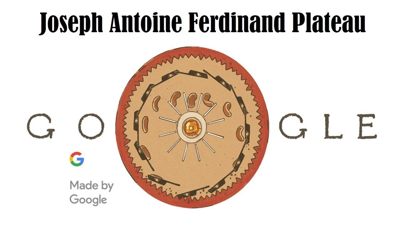 Google celebrates Joseph Antoine Ferdinand Plateau w/ multiple animated doodles