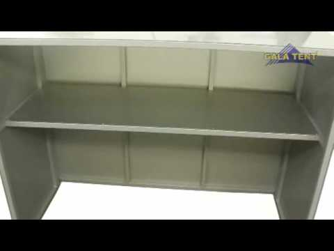 5ft Folding Bar Outdoor Counter With Shelf