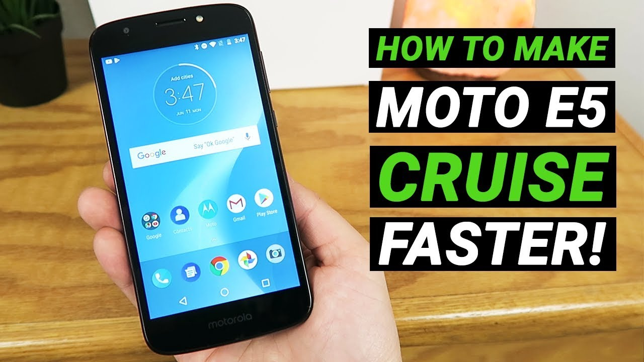 How to Make Moto E5 Cruise Faster! (No need to install anything)