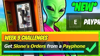 Get Slone's Orders from a Payphone NEW WEEK 9 LOCATION - Fortnite