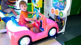 Little Boy Leo Ride on Pink Jeep - NEW WHEELS #toycars