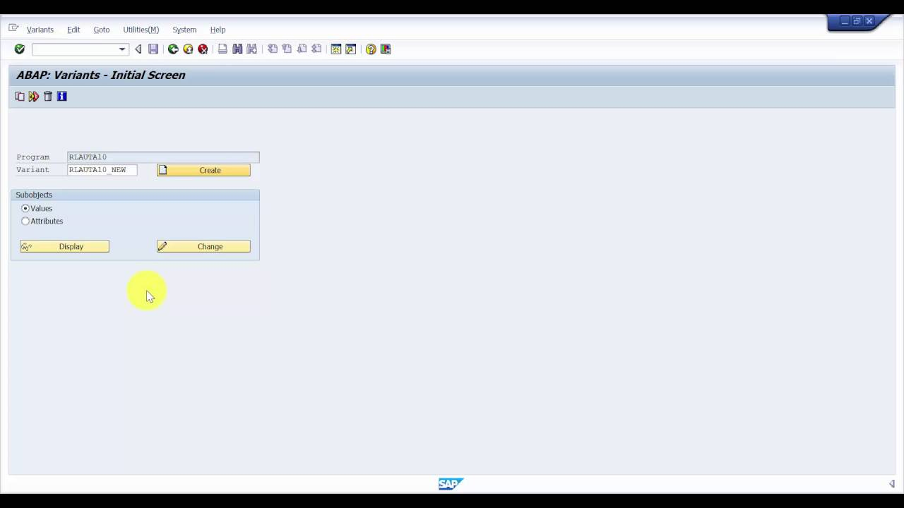 How to create a Batch Job Variant - SAP Batch Job Part1