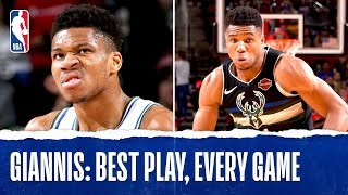 Giannis Antetokounmpo's Best Plays From Every Game!