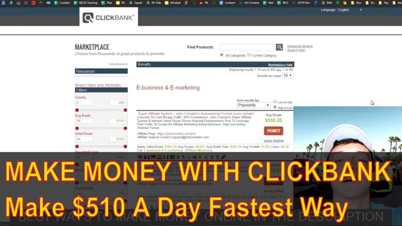 Make 0 Per Day From Clickbank Fastest Way – Make Money Online