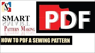 Printable PDF Sewing Pattern: How To PDF A Pattern