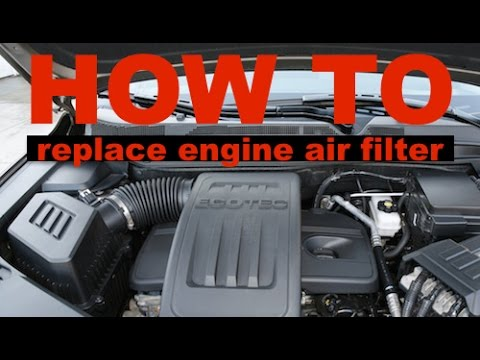 2015 Gmc Terrain >> Chevy Equinox / GMC Terrain - How to Replace the Engine Air Filter - YouTube